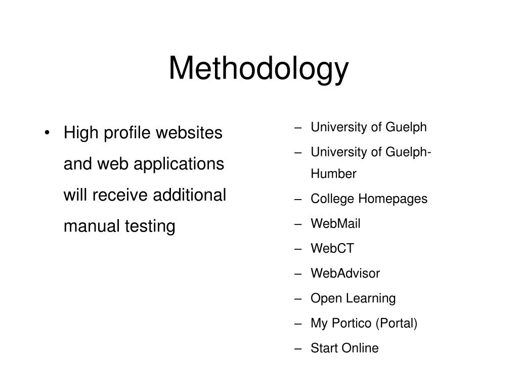 High profile websites and web applications will receive additional manual testing
