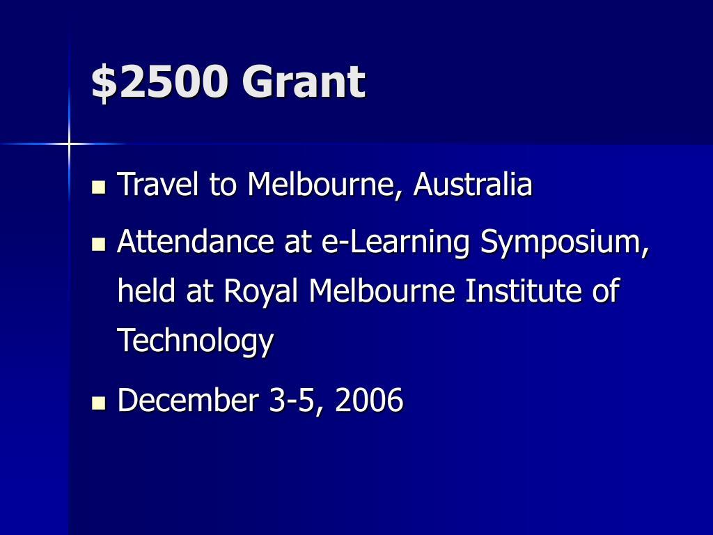 $2500 Grant