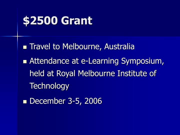 2500 grant