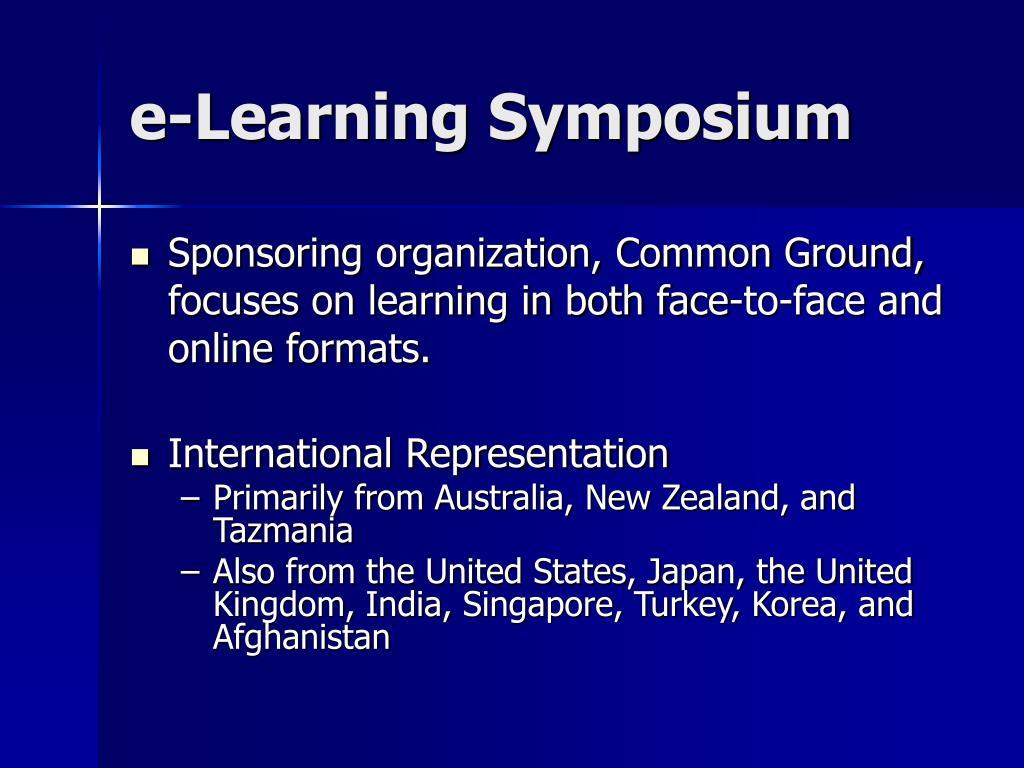e-Learning Symposium