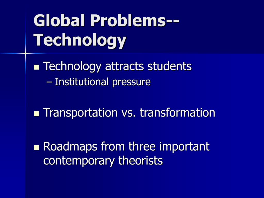 Global Problems--Technology