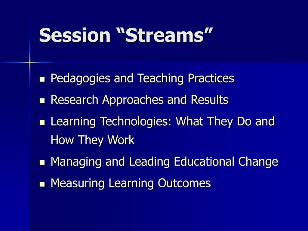 "Session ""Streams"""