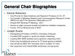 general chair biographies