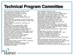technical program committee