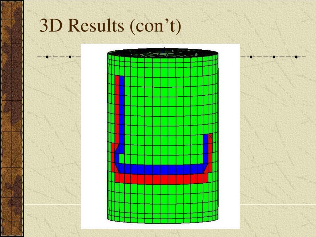 3D Results (con