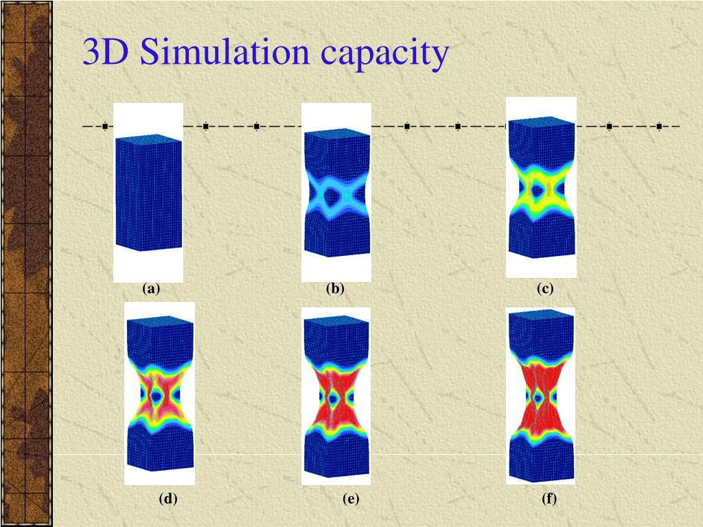 3D Simulation capacity