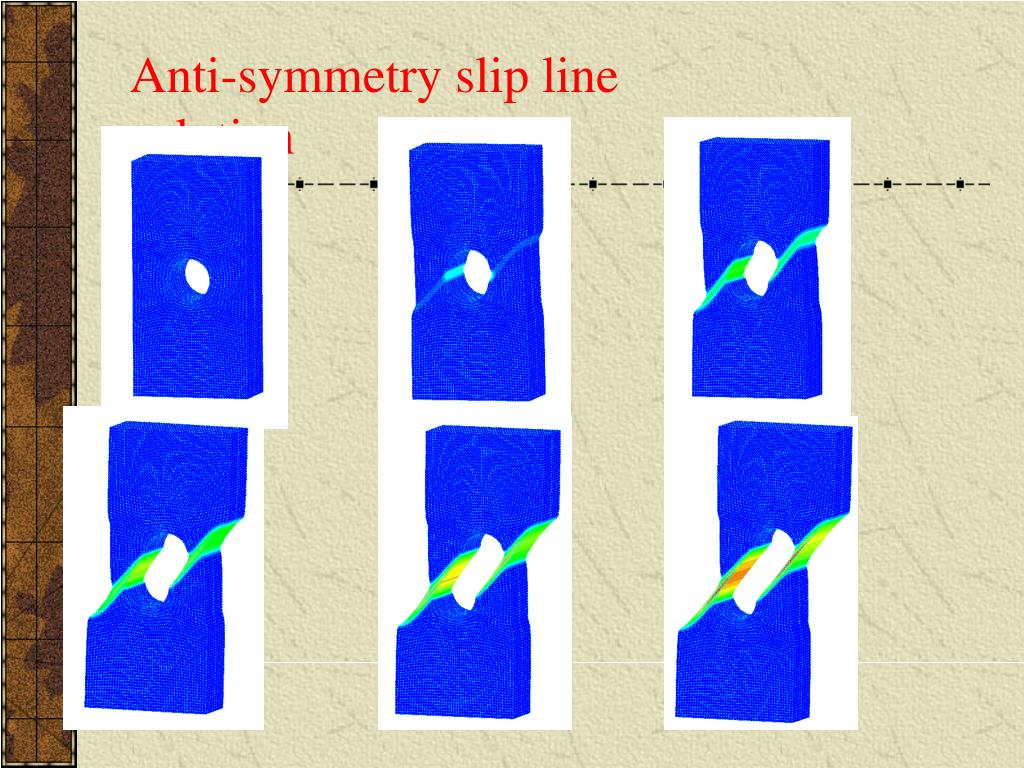 Anti-symmetry slip line solution