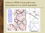 cohesive fem crack path is pre determined or it is mesh dependent