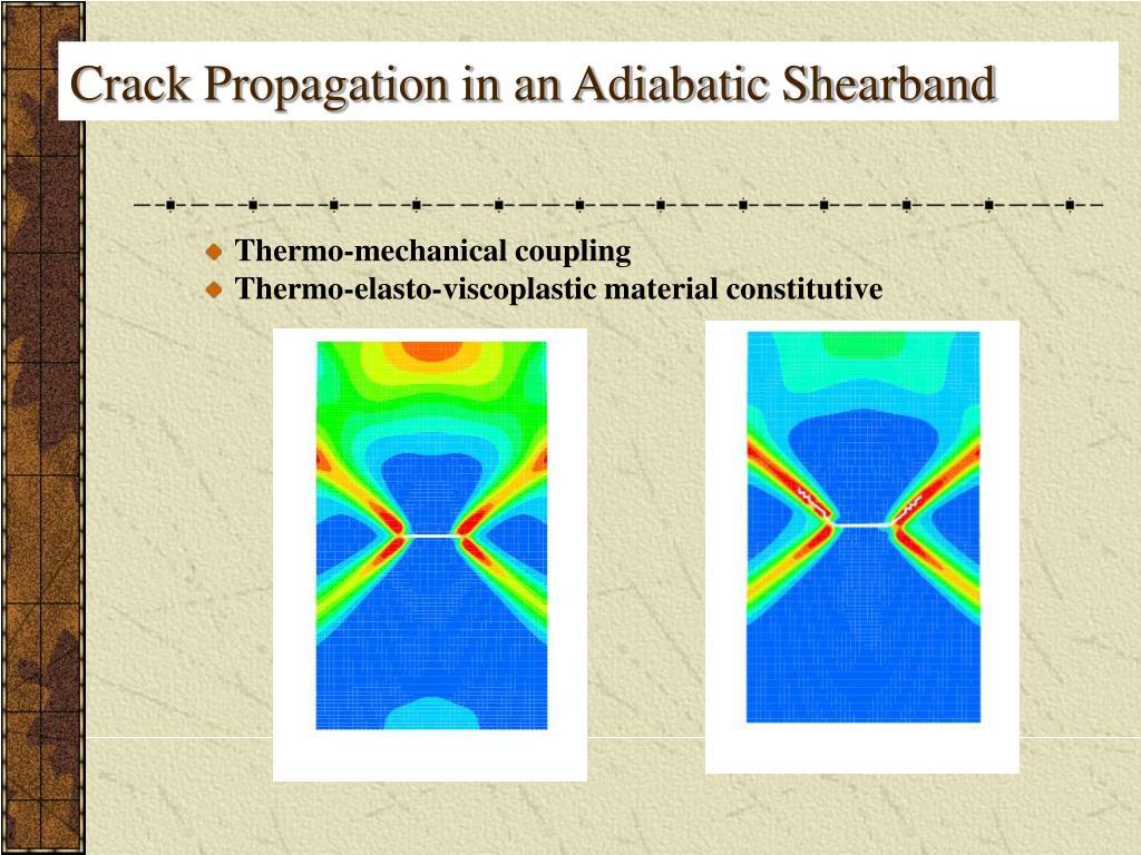 Crack Propagation in an Adiabatic Shearband