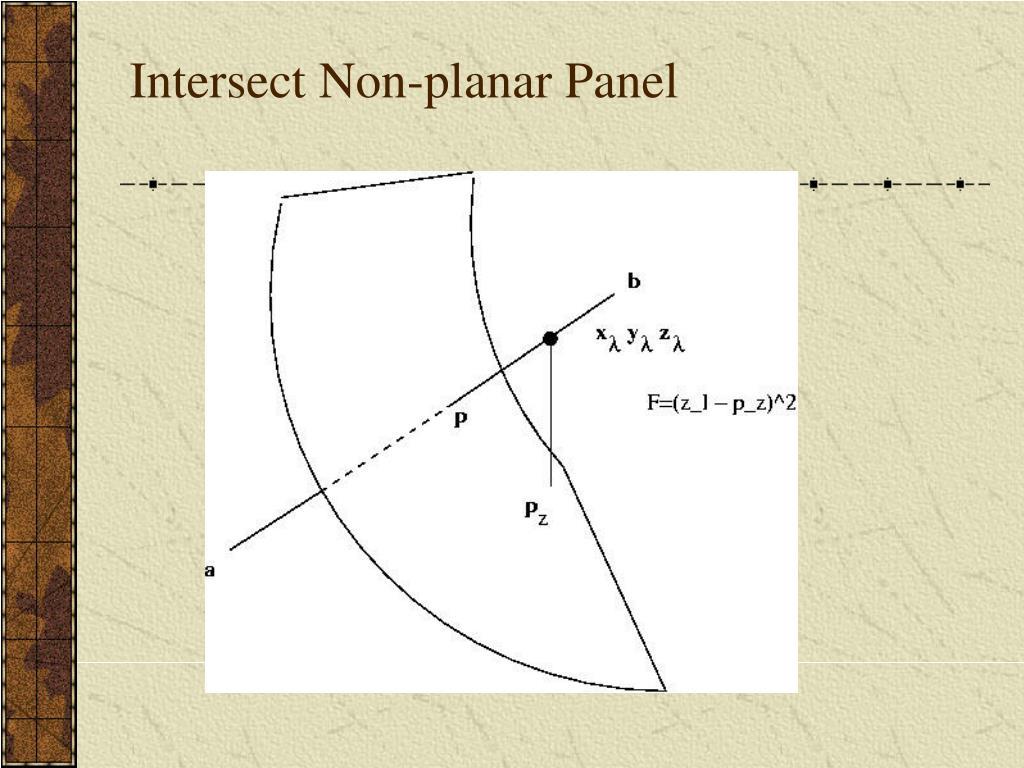 Intersect Non-planar Panel