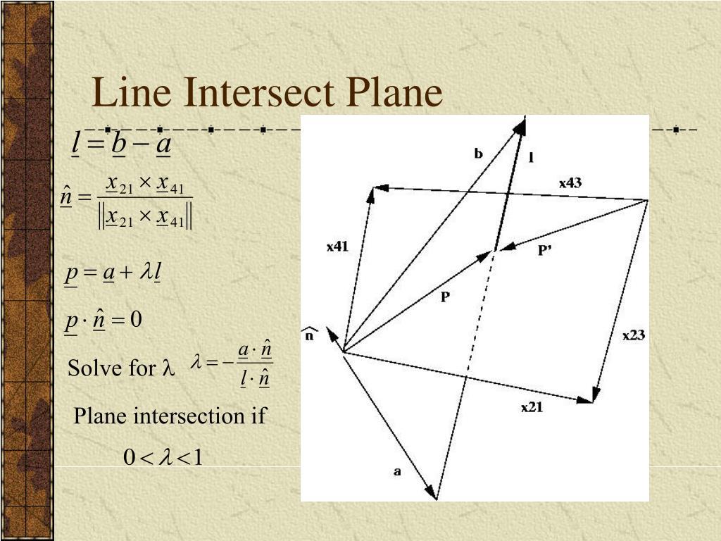 Line Intersect Plane
