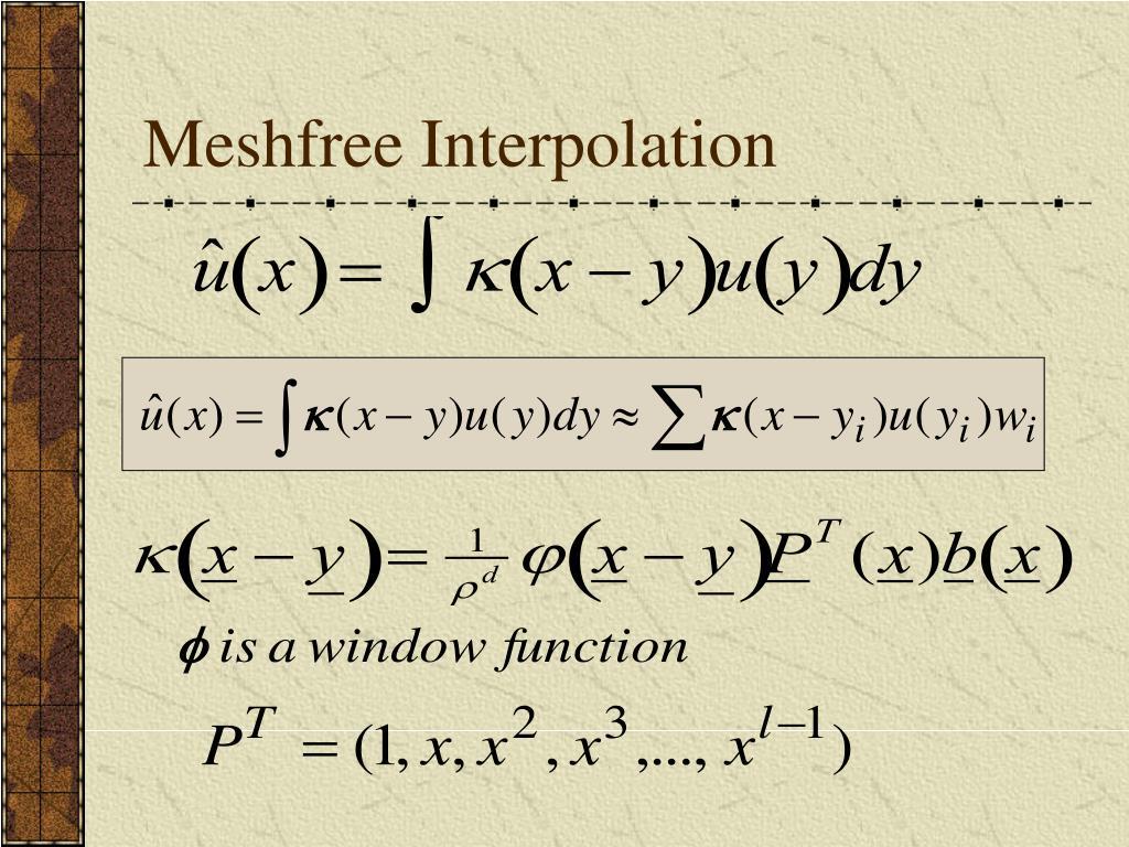 Meshfree Interpolation