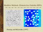 meshfree methods element free galerkin efg