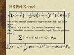 rkpm kernel