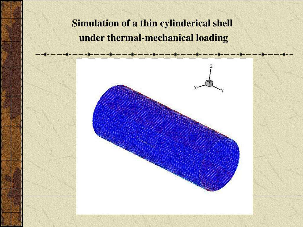 Simulation of a thin cylinderical shell