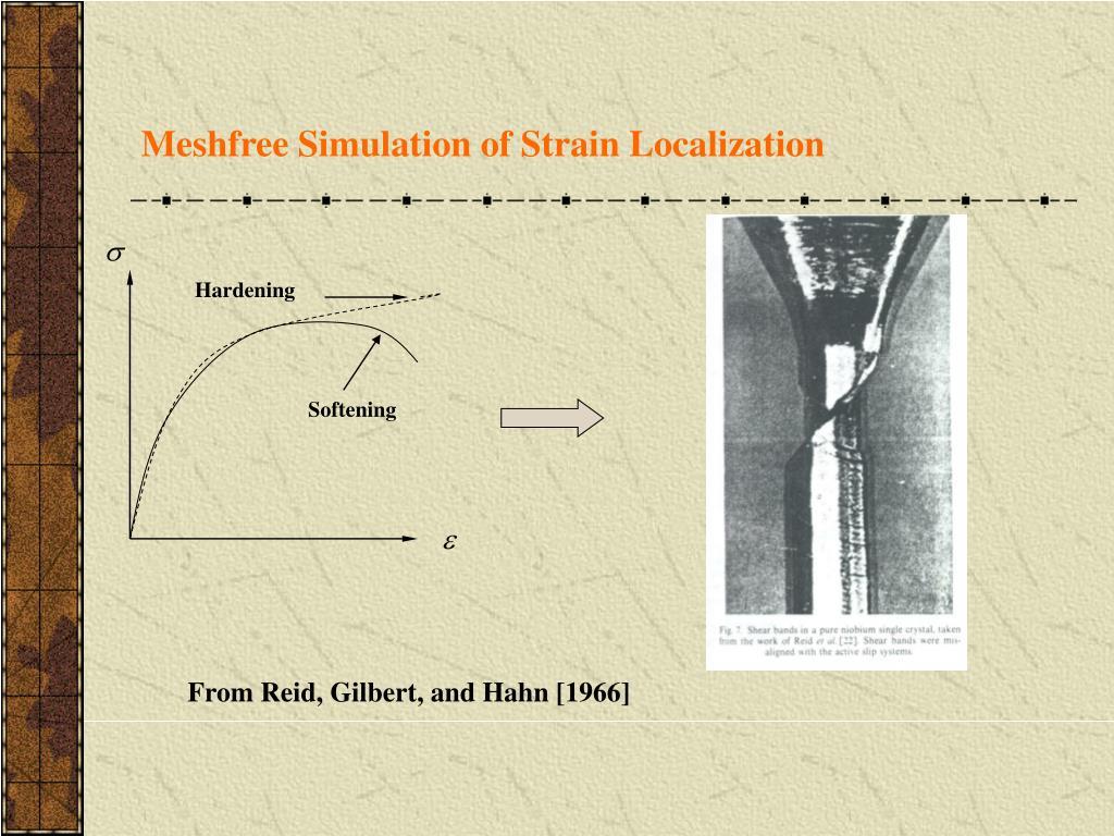 Meshfree Simulation of Strain Localization