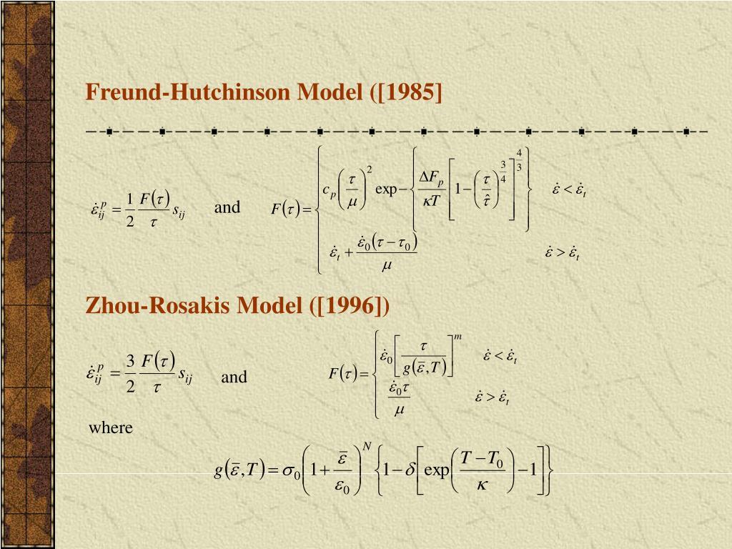 Freund-Hutchinson Model ([1