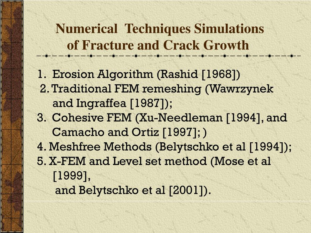 Numerical  Techniques Simulations