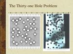 the thirty one hole problem
