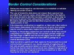 border control considerations