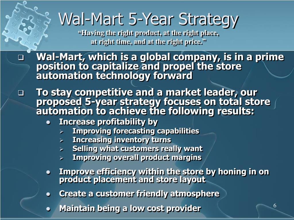 Wal-Mart 5-Year Strategy