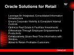 oracle solutions for retail