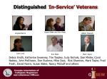 distinguished in service veterans