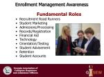 enrollment management awareness