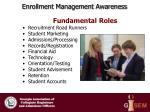 enrollment management awareness