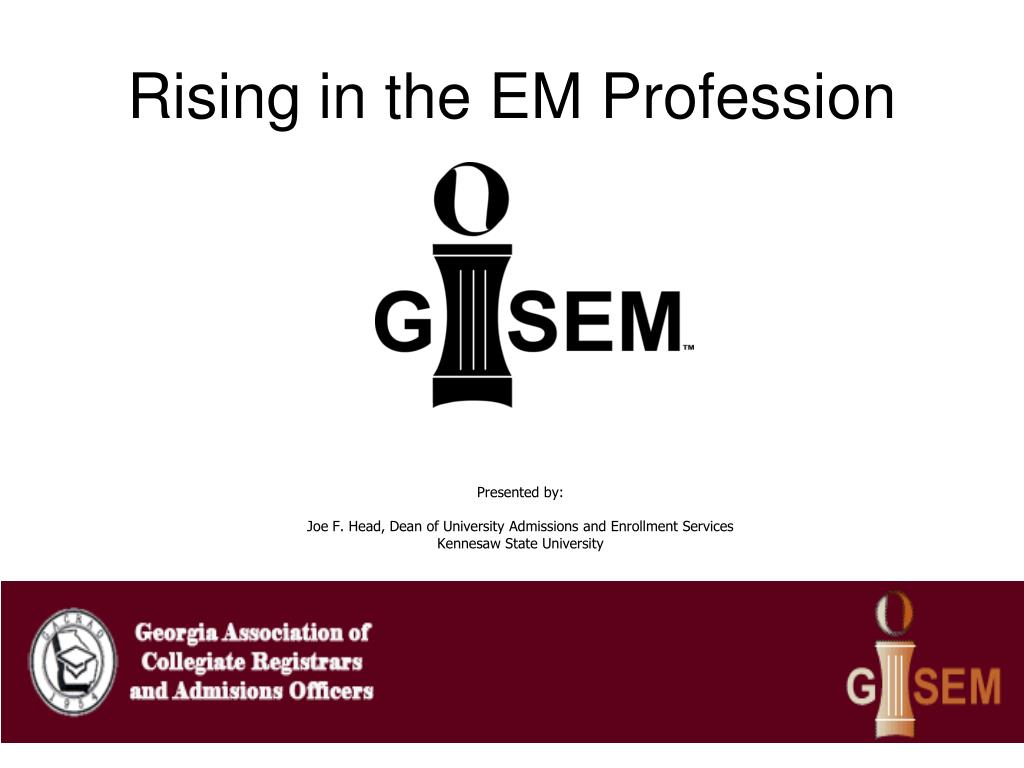 rising in the em profession
