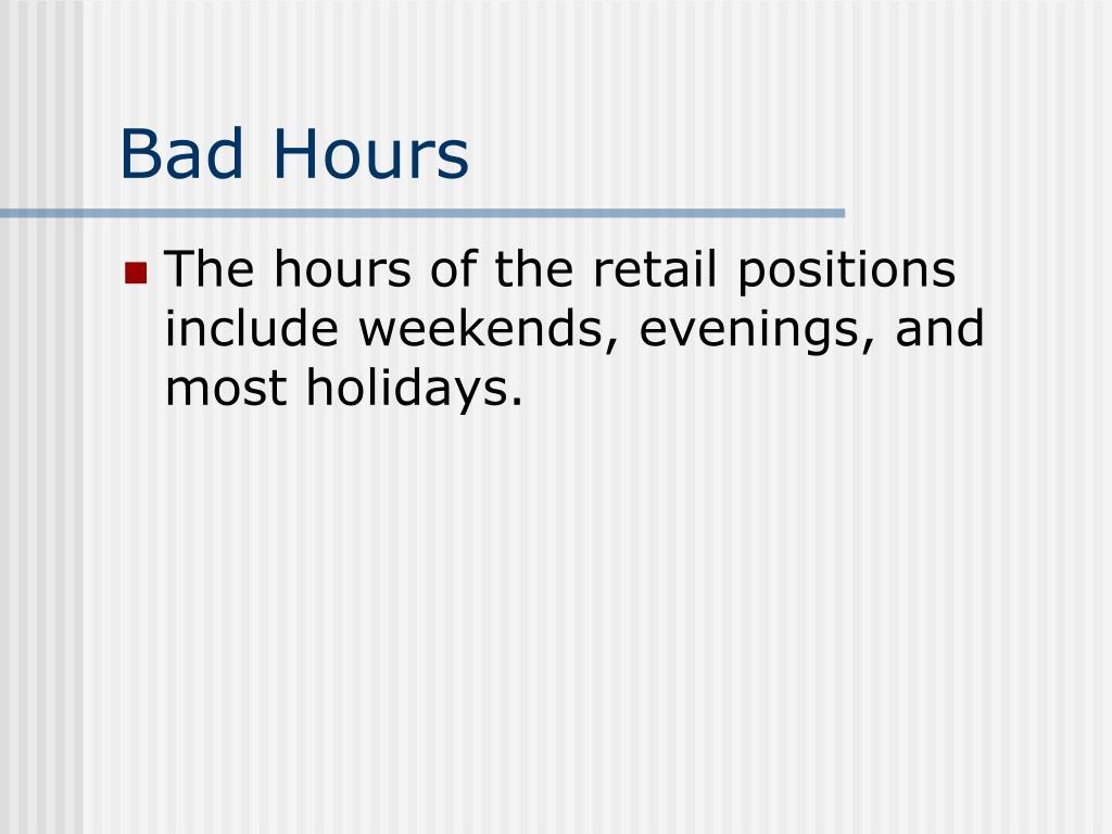 Bad Hours