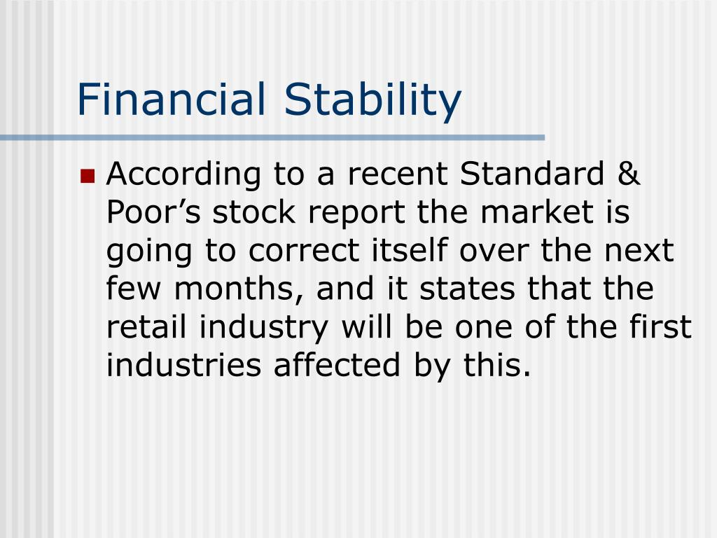 financial stability l.