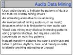 audio data mining