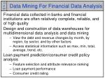 data mining for financial data analysis