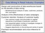 data mining in retail industry examples