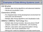 examples of data mining systems cont