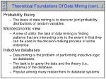 theoretical foundations of data mining cont