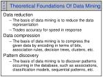 theoretical foundations of data mining