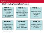 six evolving workplace trends