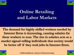 online retailing and labor markets16