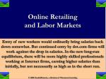 online retailing and labor markets17