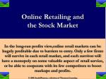 online retailing and the stock market22