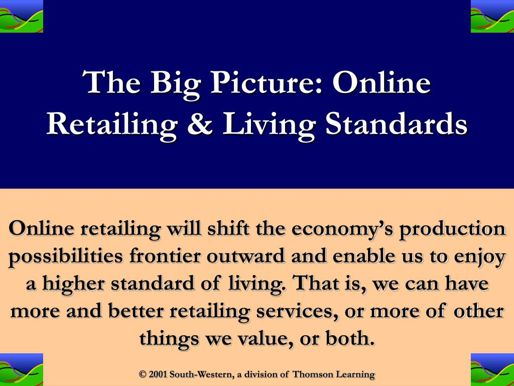 The Big Picture: Online Retailing & Living Standards