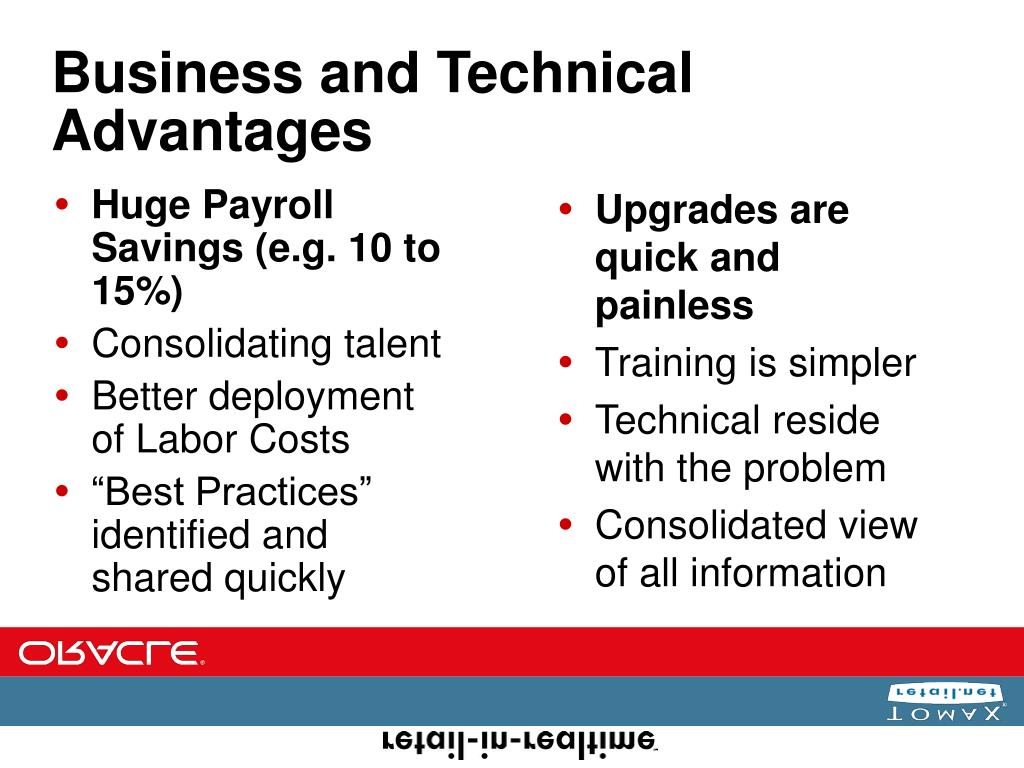 Business and Technical Advantages