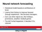 neural network forecasting