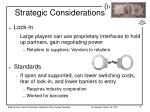 strategic considerations8