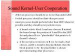 sound kernel user cooperation