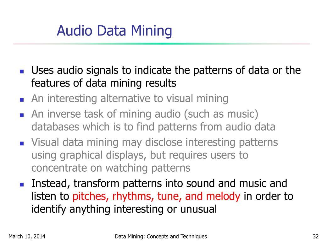 Audio Data Mining