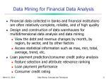 data mining for financial data analysis