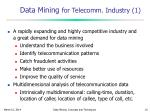 data mining for telecomm industry 1